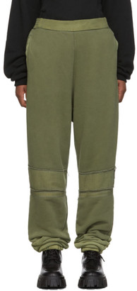 Ambush Green Bleach Patchwork Lounge Pants