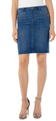 Liverpool Gia Pull-On Denim Pencil Skirt