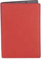 Smythson Panama leather passport holder