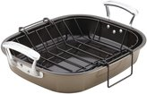 "Anolon Nonstick Roaster with Hanging U-Rack - Pewter/Bronze - 16"" x 13.5"""