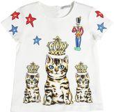 Dolce & Gabbana Zambia Printed Cotton Jersey T-Shirt