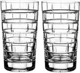 Rogaska Quoin Highball Glass, Set of 2