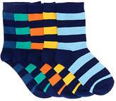 John Lewis Children's Rugby Stripe Socks, Pack of 5, Multi