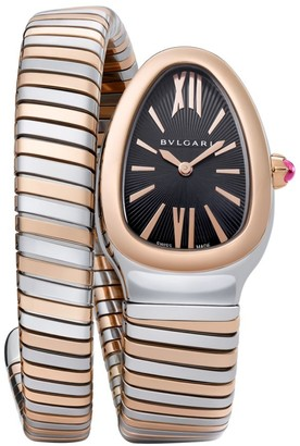 Bvlgari Serpenti Tubogas Rose Gold & Stainless Steel Single Twist Watch