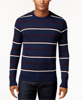 Tommy Hilfiger Men's Justin Striped Crew-Neck Sweater