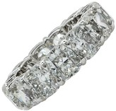 Platinum & 11.03ct Diamond Wedding Eternity Band Ring Size 6