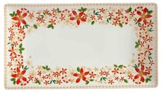 Maxwell & Williams Festive Blossom Rectangle Platter 36x20cm