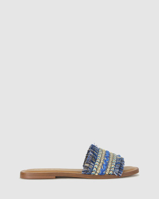 betts Women's Flat Sandals - Barbados Frayed Slides - Size One Size, 7 at The Iconic