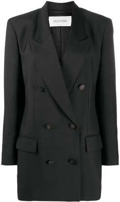Valentino Double-Breasted Longline Jacket