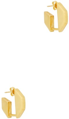 B Tal Gold-plated octagon hoop earrings