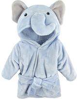 Hudson Baby Blue Elephant Hooded Bathrobe - Infant
