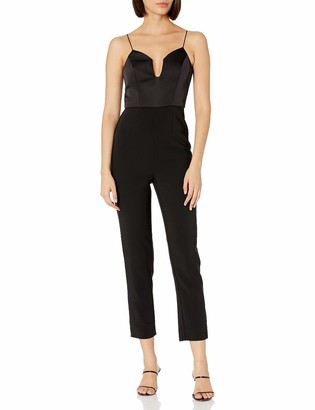 Finders Keepers findersKEEPERS Women's Paradise Sleeveless Plunging Tapered Dressy Jumpsuit