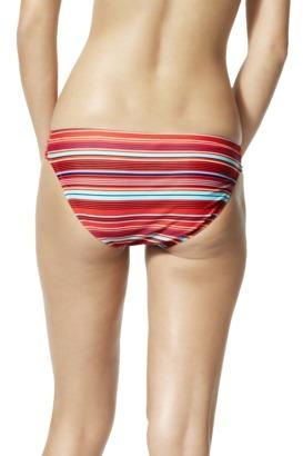 Xhilaration Juniors Hipster Swim Bottom -Multicolor Stripe Print