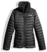 The North Face Girls' Reversible Mossbud Swirl Jacket, Black, Size XXS-XL