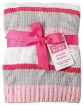 Hudson Baby Striped Chenille Blanket, Pink by