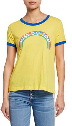 Wildfox Couture Just Do You Johnny Ringer Short-Sleeve Slogan T-Shirt