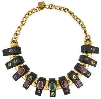 Ashley Pittman Horn & Multistone Collar Necklace