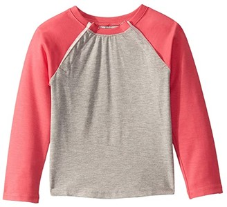 Abilitee Adaptive Wear Adaptive Shoulder Snap Baseball Tee (Infant/Toddler/Little Kids) (Coral) Clothing