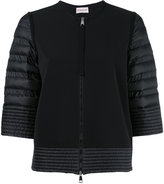 Moncler padded sleeve zip cardigan - women - Feather Down/Polyamide/Polyester/Polyimide - S