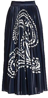 Escada Women's Ratta Paisley Pleated Midi Skirt