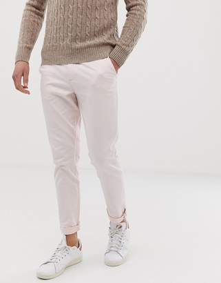 Jack and Jones slim fit chinos in light pink