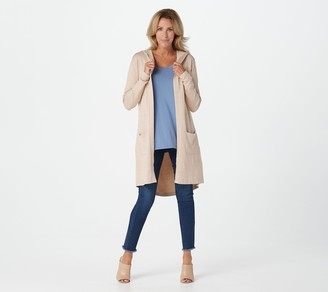 Belle By Kim Gravel Belle by Kim Gravel Feather Knit Hooded Long Cardigan