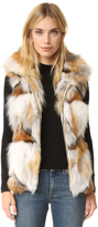 Jocelyn Silver and Golden Fox Patchwork Vest