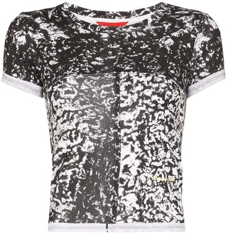 Eckhaus Latta abstract print cropped T-shirt