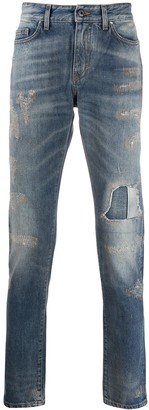 B Used Distressed Denim Jeans