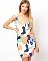 Asos Patch Sequin Mini Dress