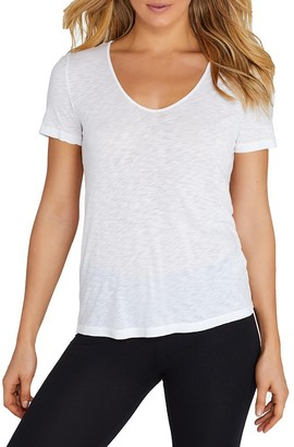 Splendid Women's Slub Cut Out Tee