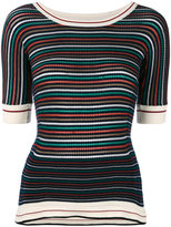 Sonia Rykiel striped knitted T-shirt