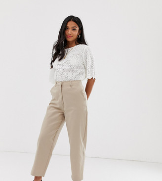 BEIGE Y.A.S Petite tailored trousers in