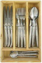 Laguiole by Louis Thiers Lineaire 24 Piece Cutlery Set Handle: Stainless Steel