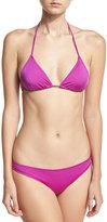 Eberjey Gisele Triangle Bikini Top, Purple