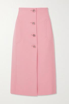 Prada Wool Midi Skirt - Pink
