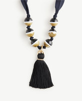 Ann Taylor Sphere Tassel Necklace