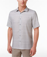 Alfani Men's Line-Print Grid-Pattern Shirt, Only at Macy's