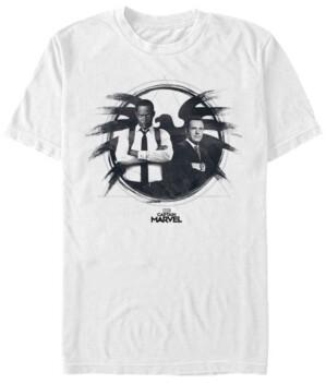 Marvel Men's Captain Nick Fury Phil Coulson Agents, Short Sleeve T-shirt