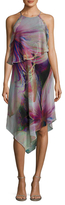 Rachel Roy Printed Asymmetrical Midi Dress