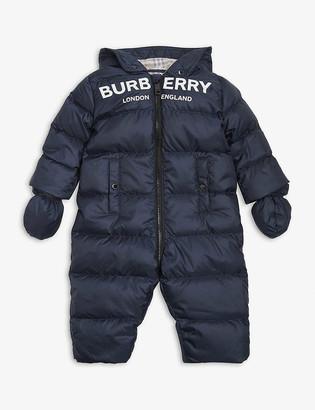 Burberry Skylar down padded snowsuit 3-18 months
