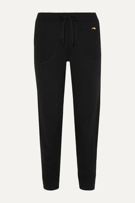 Bella Freud Harlequin Intarsia Merino Wool Track Pants - Black