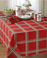 Lenox Table Linens, Holiday Gatherings Plaid Round Placemat