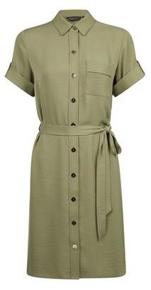 Dorothy Perkins Womens Khaki Shirt Dress, Khaki