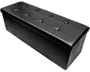 Sorbus Faux Leather Folding Storage Ottoman Chest Bench