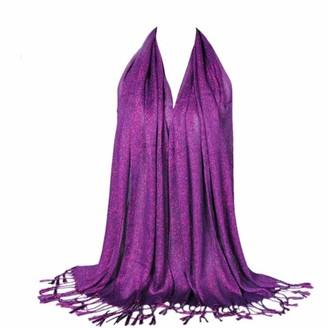 Deloito  Womens Scarf Women's Fashion Long Scarves Winter Warm Large Scarf Pure Color Neck Scarf Shawl Wrap by Deloito (Purple)