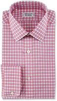 Charvet Check Cotton Dress Shirt, Red/Blue