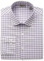 Kenneth Cole Reaction Men's Technicole Slim Fit Stretch Plaid Spread Collar Dress Shirt