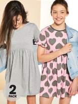 Very 2pk Heart Jersey Dress