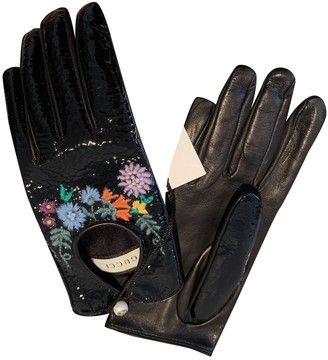 Gucci \N Black Patent leather Gloves